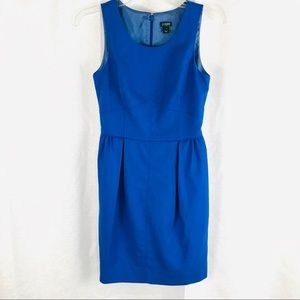 J CREW Royal Blue Pleated Shirt Dress Wool 0